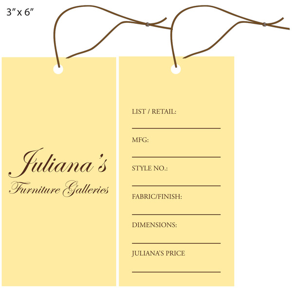 Exceptional Custom Furniture Hang Tag   Julianau0027s