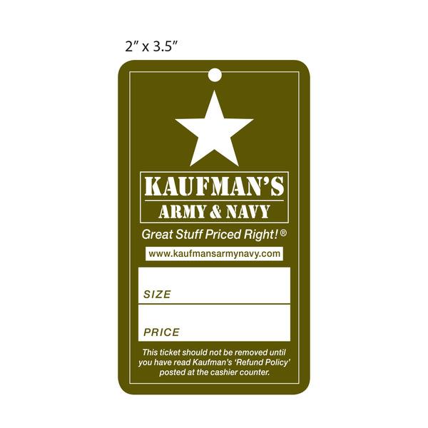 Custom Price Hang Tag Kaufman S Army Navy