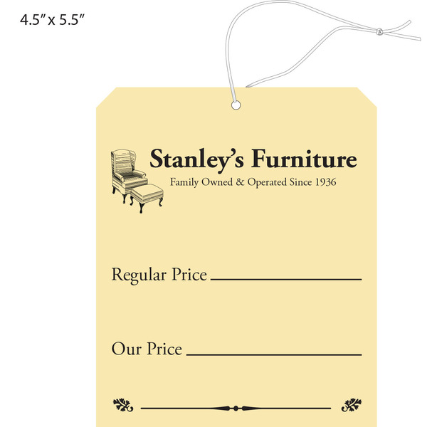 Awesome Custom Price Hang Tag   Stanleyu0027s Furniture