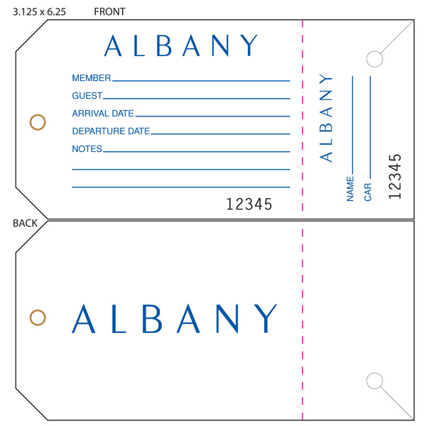Custom Printed Guest Tags And Valet Tags  St Louis Tag