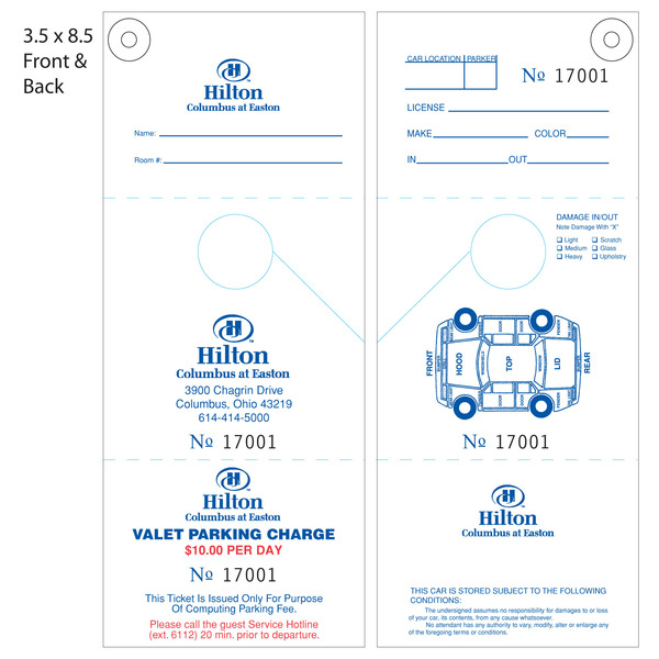 hanging parking pass template - custom printed valet ticket parking tags st louis tag