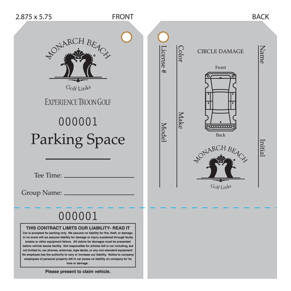 Parking Tag Template  ApigramCom