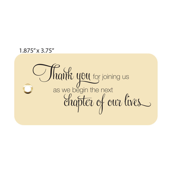 Custom Printed Wedding Tags for Favors and Gifts   St. Louis Tag