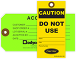 Custom Printed Industrial Tags